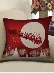 Christmas Sleigh Car Deer Tree Print Sofa Linen Pillowcase -