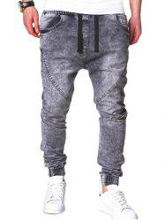 Stretchy Waist Slim Fit Jogger Jeans -