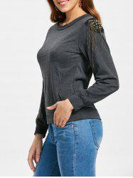 Alluring Women's Long Sleeve Jewel Neck Solid Color T-Shirt -