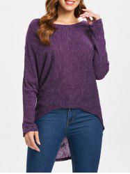 Dolman Sleeve Asymmetrical Sweater -