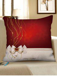 Merry Christmas Decorative Linen Pillowcase -