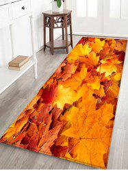Maple Leaf Water Absorption Floor Rug -