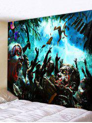 Wall Hanging Art Halloween Zombie Print Tapestry -
