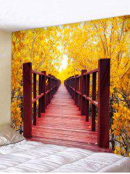 Leaf Bridge Printed Tapestry Wall Art Decoration -