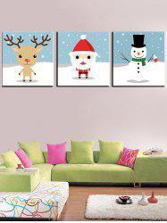 Christmas Theme Print Unframed Split Canvas Paintings -