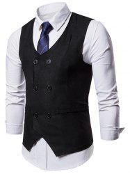 Double Breasted Slim Business Vest -