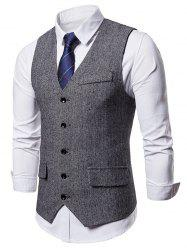 Five-button False Pocket Vest -