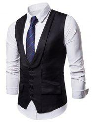 Layered Single Breasted Dress Vest -