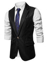 Turndown Collar Two Pockets Vest -