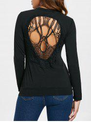 Long Sleeve Skull Cutout T-Shirt -
