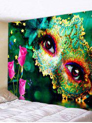 Party Mask Eyes Print Decorative Wall Tapestry -