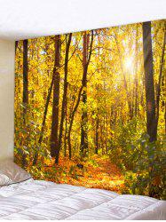 Sunny Forest Gorgeous Autumn Print Decorative Wall Tapestry -