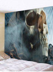 Skull Iron Chain Print Removable Wall Tapestry -