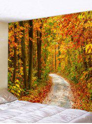 Wall Hanging Art Maple Forest Path Print Tapestry -