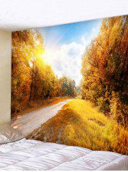 Wall Hanging Art Maple Forest Road Print Tapestry -