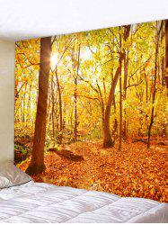 Sun Fall Forest Print Decorative Wall Tapestry -