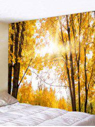 Wall Hanging Art Sunlight Maple Forest Print Tapestry -