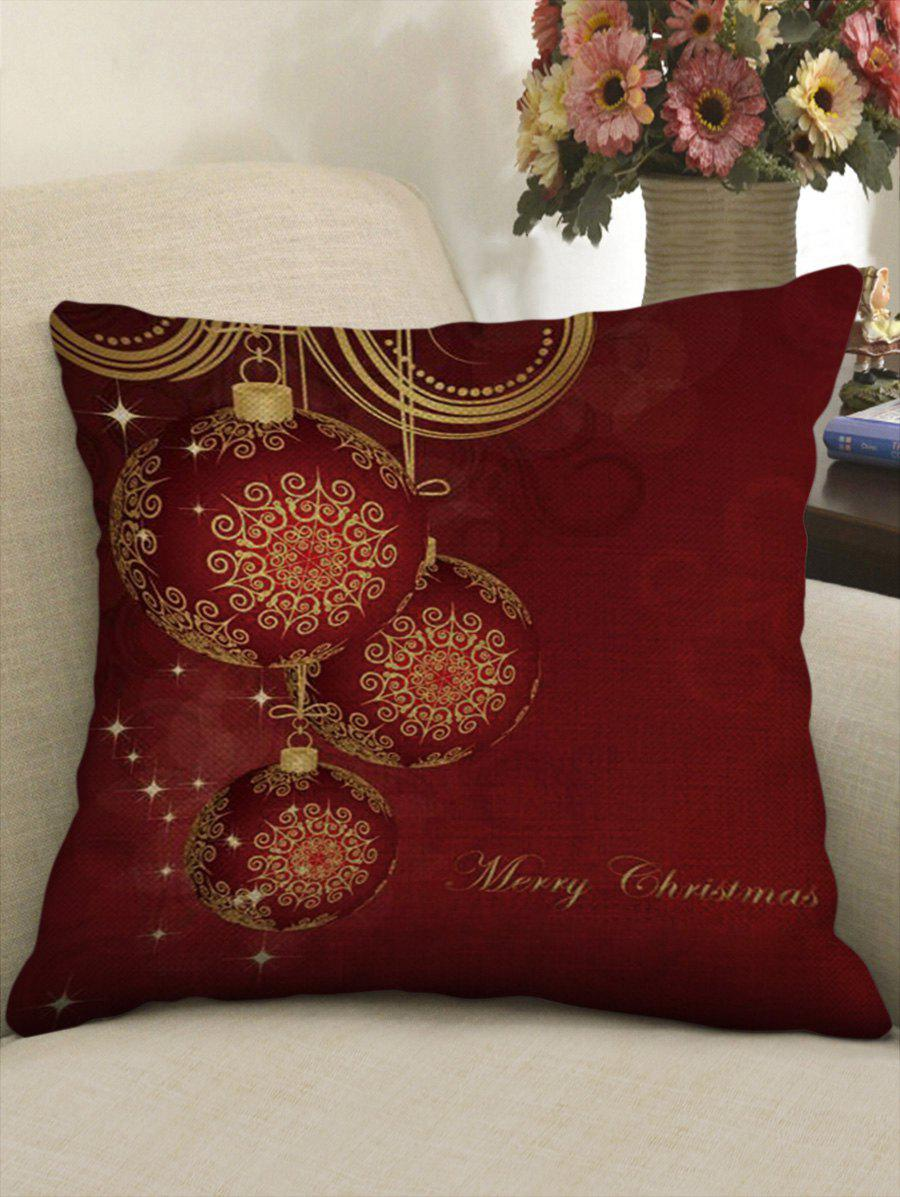 Outfits Christmas Traditional Lantern Print Linen Pillowcase