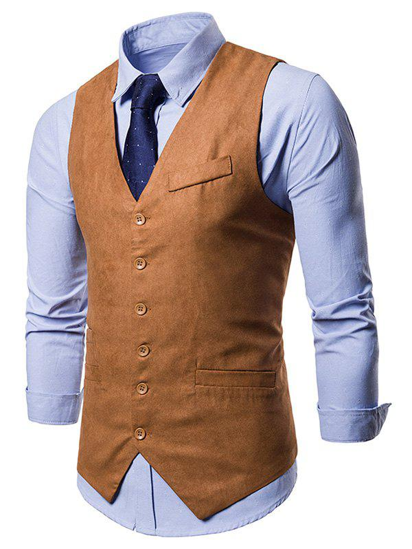 V Neck Slim Fit Business Vest