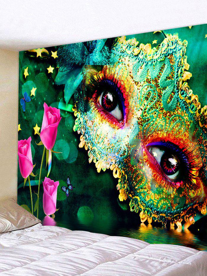 Fashion Party Mask Eyes Print Decorative Wall Tapestry