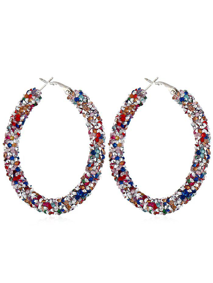 Best Unique Colored Rhinestone Hoop Earrings