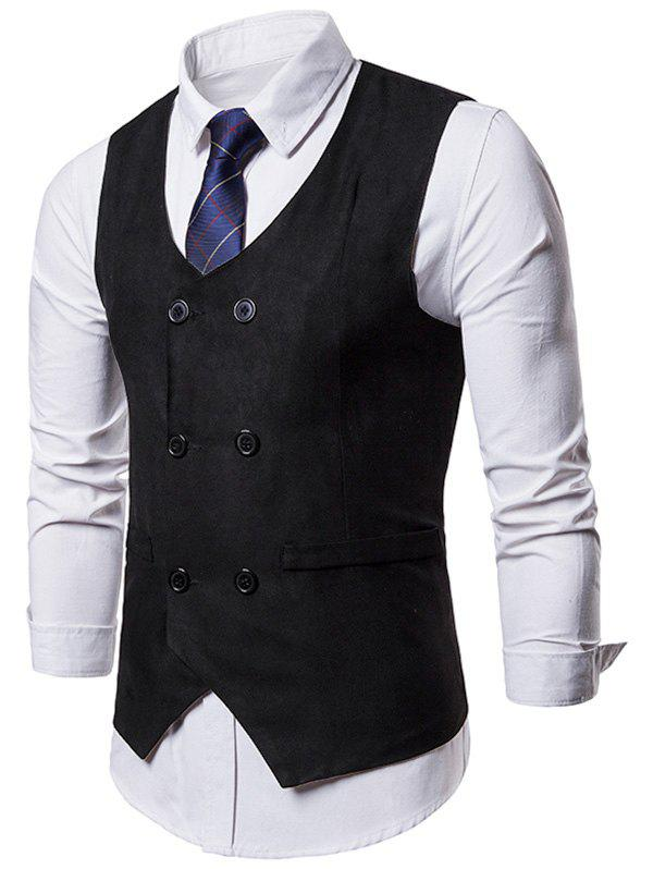 Unique Double Breasted Slim Business Vest