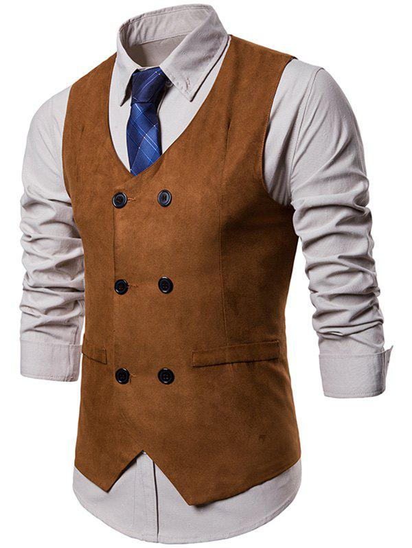 Fashion Double Breasted Slim Business Vest