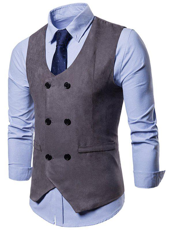 Outfits Double Breasted Slim Business Vest