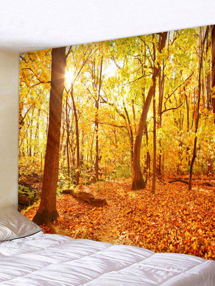 Shops Sun Fall Forest Print Decorative Wall Tapestry