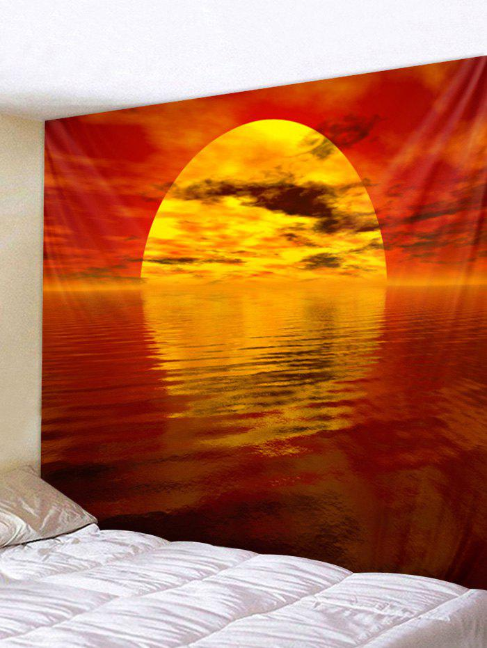 Outfits Sunset Lake Print Decorative Wall Tapestry