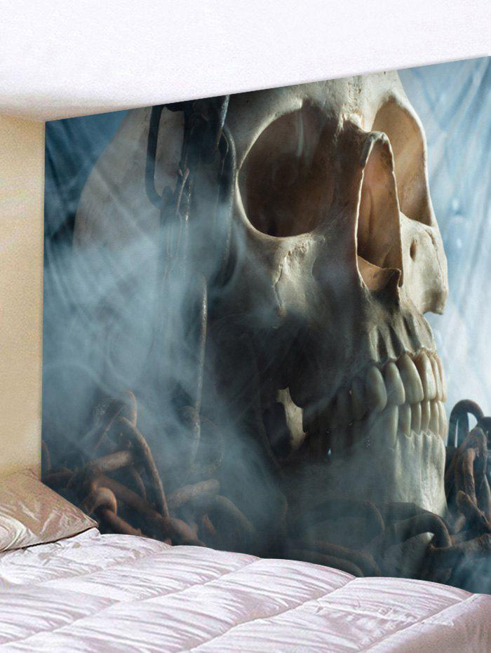 Chic Skull Iron Chain Print Removable Wall Tapestry