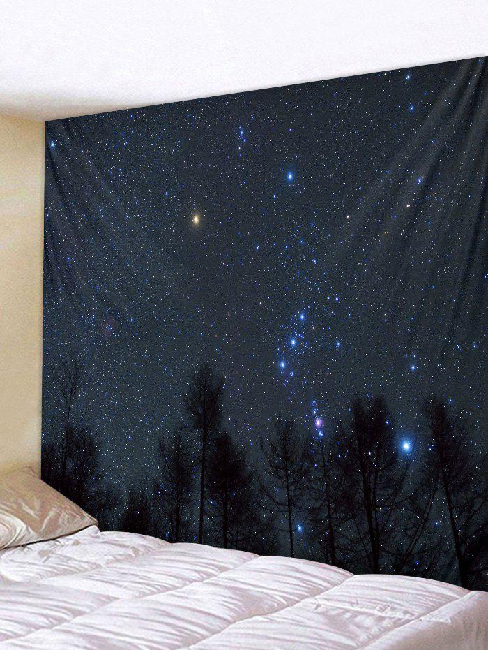 Fancy Wall Hanging Art Forest Starry Sky Print Tapestry