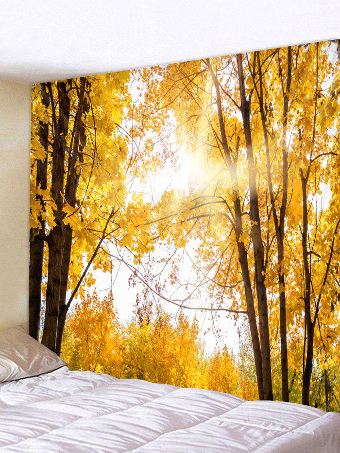 Latest Wall Hanging Art Sunlight Maple Forest Print Tapestry