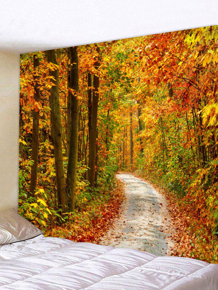 Cheap Wall Hanging Art Maple Forest Path Print Tapestry