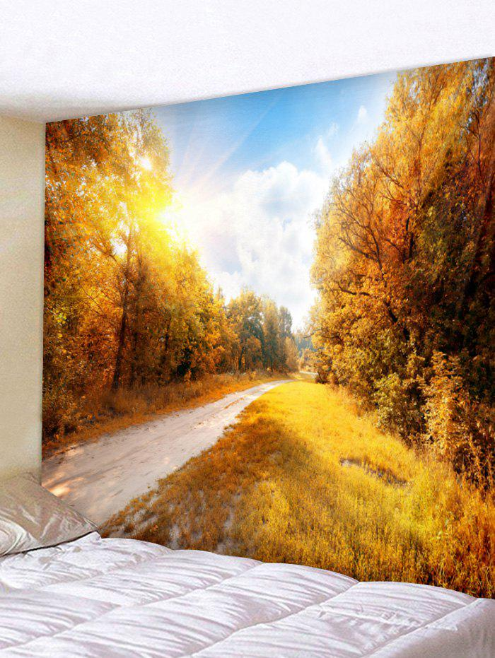 Outfit Wall Hanging Art Maple Forest Road Print Tapestry