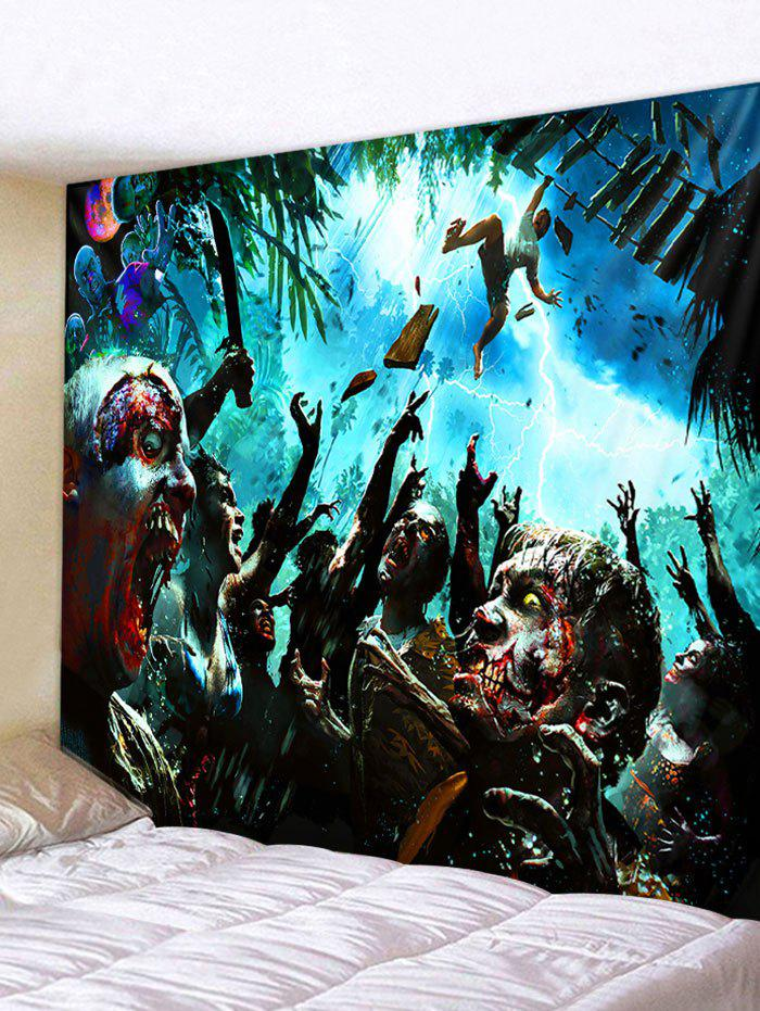 Discount Wall Hanging Art Halloween Zombie Print Tapestry