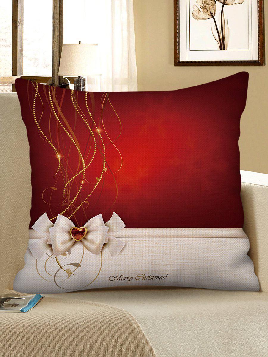 Trendy Merry Christmas Decorative Linen Pillowcase
