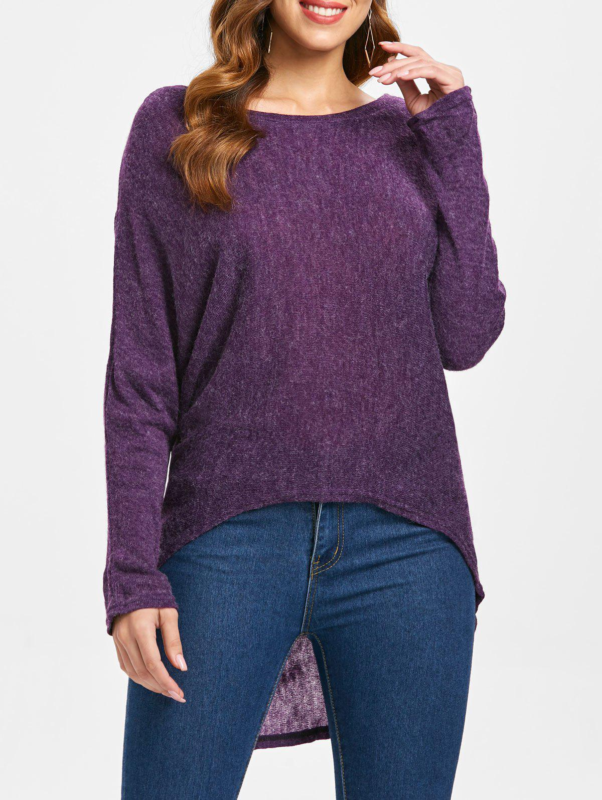 Cheap Dolman Sleeve Asymmetrical Sweater