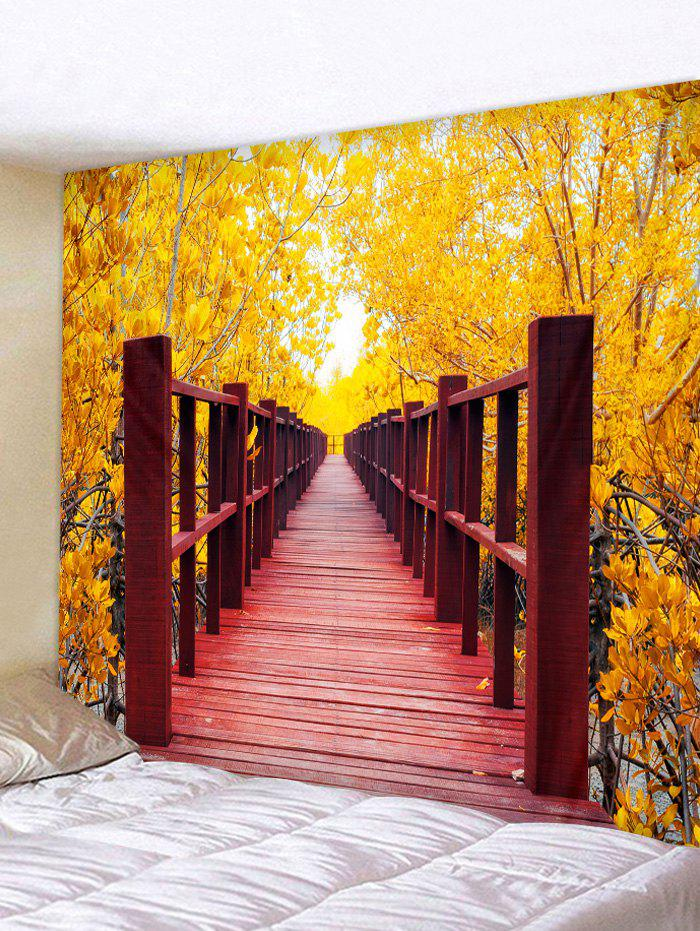 Affordable Leaf Bridge Printed Tapestry Wall Art Decoration