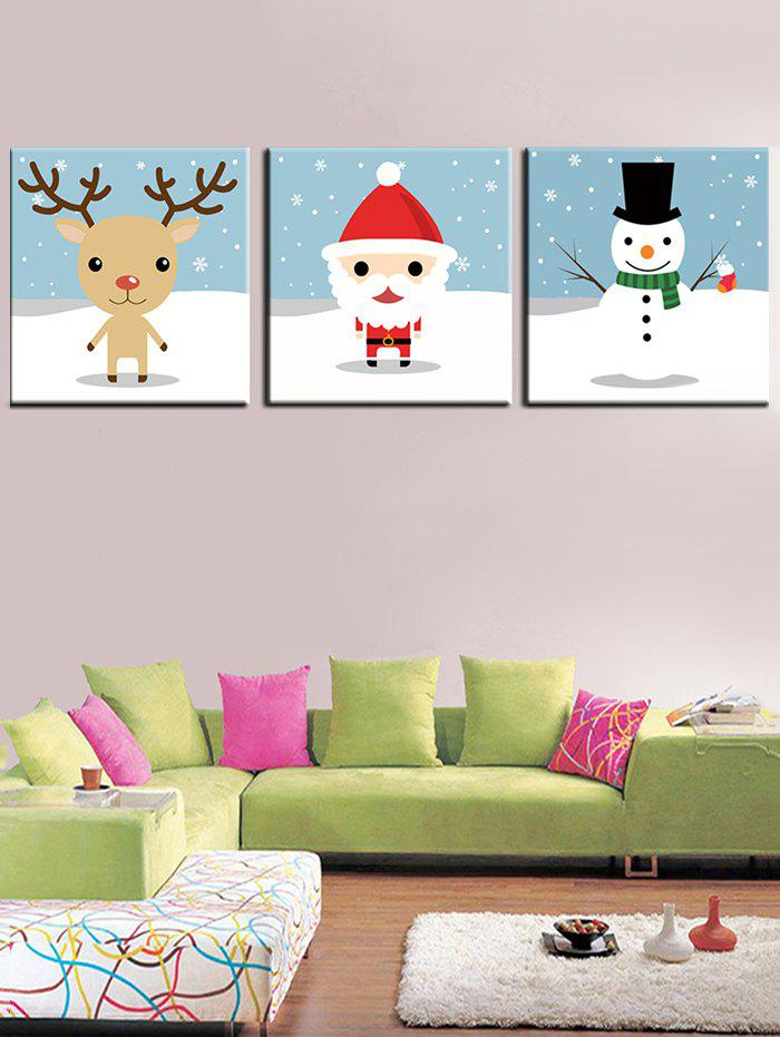 Unique Christmas Theme Print Unframed Split Canvas Paintings