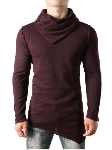 Cowl Collar Solid Color Sweater