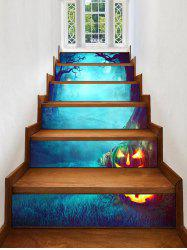 Halloween Night Cemetery Print Decorative Stair Stickers -