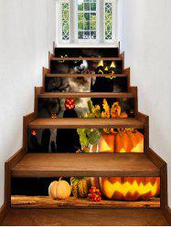 Halloween Pumpkins Print Decorative Stair Stickers -