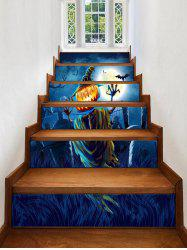 Halloween Moon Tomb Print Decorative Stair Stickers -