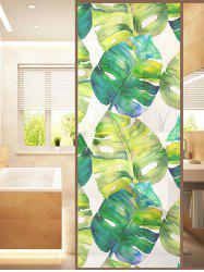 Frosted Palm Leaf Glass Sticker for Window Bathroom -