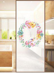 Frosted Wreath Glass Sticker for Window Bathroom -
