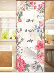 Frosted Flower Blossom Glass Sticker for Window Bathroom -