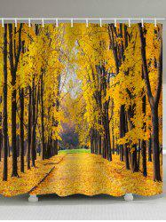 Woodland Path In Autumn Print Waterproof Shower Curtain -