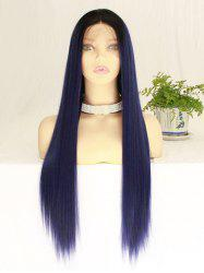 Long Middle Part Straight Lace Front Synthetic Party Wig -