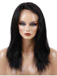 Free Part Medium Straight Human Hair Full Lace Wig -